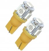 LED lampa W5W 5 SMD (gul / orange) (1st)
